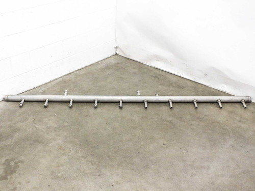 "Stainless Steel 93"" x 10"" x 2.5"" 13 Port General Purpose Industrial Manifold"