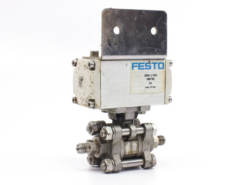 "Festo 189 781 DRD-1-F03 Actuated Ball Valve Assembly 1/4"" NPT Ports 189781"