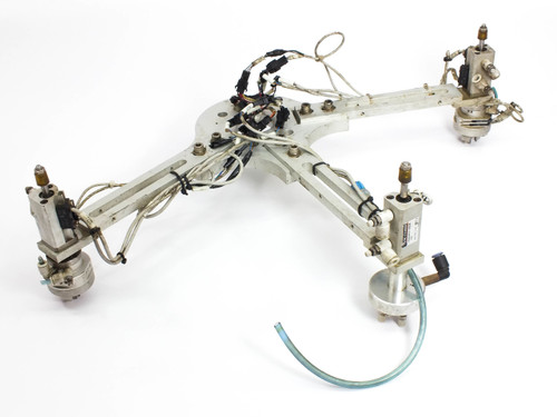 SMC Rotary Gripper 3-Finger Actuator with Robot Arm & CDQ2KWB12-20DCM MDHR3-10R