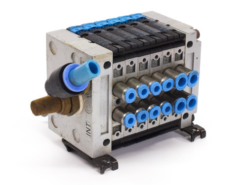 Festo 161 414 SIX Single Solenoid Piston Spool Valve 5/2-Way with End Plates