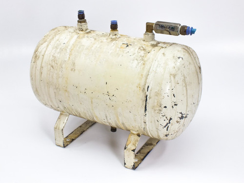 """Stainless Steel 3 Gallon Air Tank (11 L) with 3/8"""" & 1/4"""" NPT Ports"""