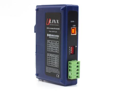B&B Electronics USOPTL4DR DIN-Rail Isolated USB to RS-422/485 Converter 1-Port