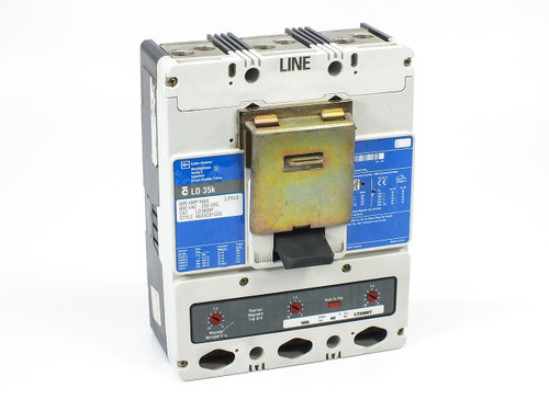 Westinghouse LD3600F Molded Case Circuit Breaker 600A 35kAIC 3-Pole 600VAC