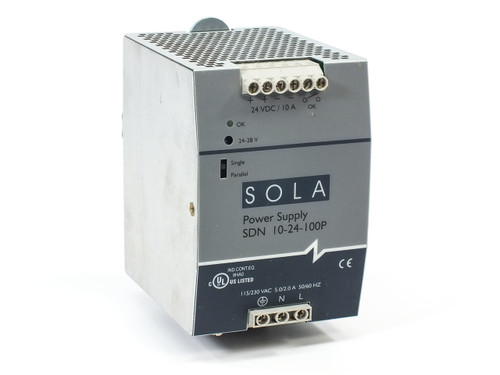 SOLA HD SDN 10-24-100P SDN-P Series 24 VDC Power Supply Din-Rail