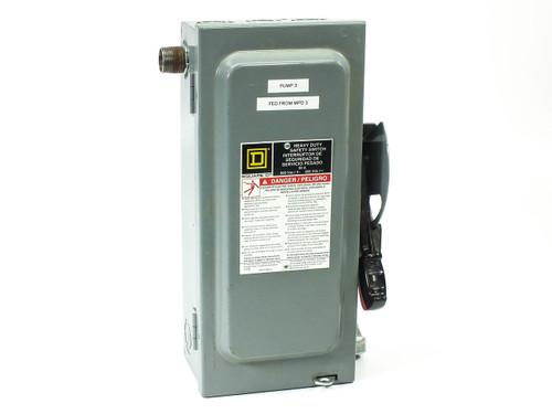 Square D H361  SWITCH FUSIBLE HD 600V 30A 3P NEMA1