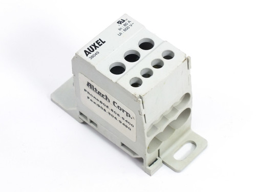 Auxel 38049 Power Distrubution Block 600V 80A 1Phase 4 Outputs