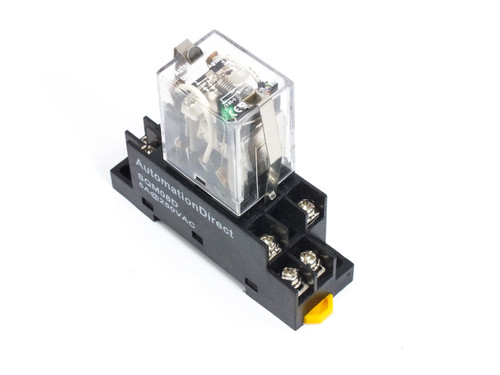 AutomationDirect SQM08D RELAY SOCKET FOR QM2 SERIES with QM2N1-D24 CUBE RELAY
