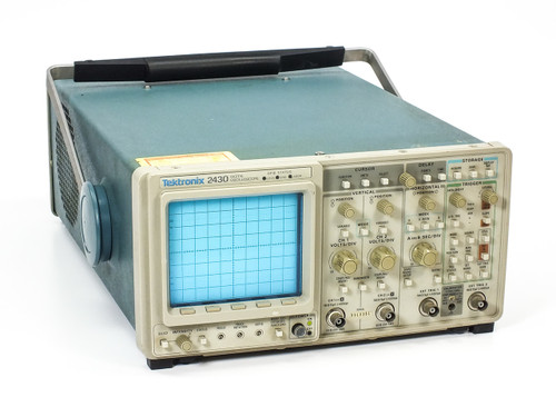 Tektronix 2430 Digital Oscilloscope 150MHz 100MSa/s 2-CH -AS-IS 6100 ERROR