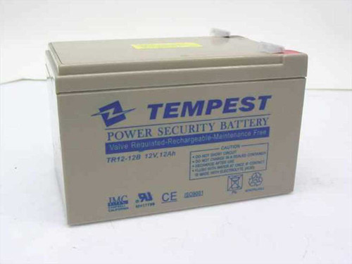 Tempest TR12-12B 12V, 12Ah Rechargeable Battery - RBC4 - RBC6