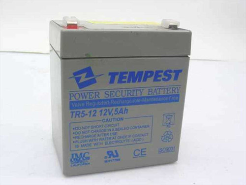 Tempest TR5-12 12V, 5Ah Rechargeable Battery