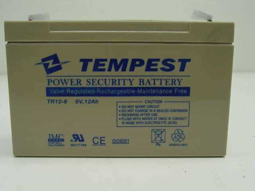 Tempest TR12-6 6V, 12Ah Rechargeable Battery