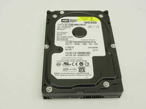 "Western Digital 40GB 3.5"" SATA Hard Drive (WD400BD)"
