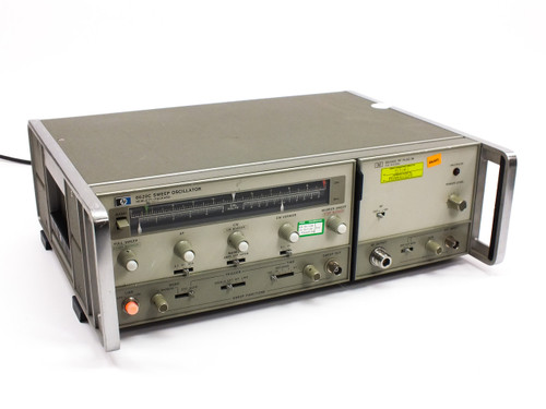 HP 8620C Sweep Oscillator with 86240C 3.6 - 8.6 GHz RF Plug-In