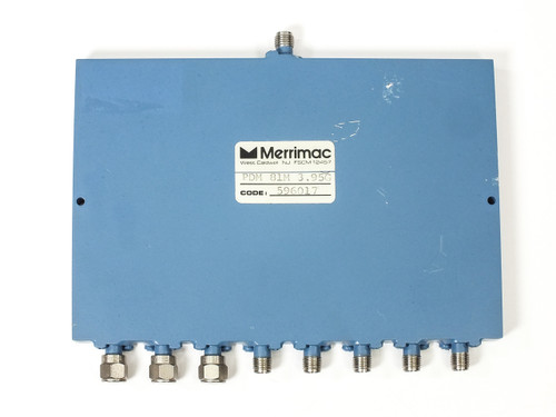 Merrimac PDM-81M-3.95G SMA Microwave Power Divider 8-Way 3.6 - 4.2 GHz