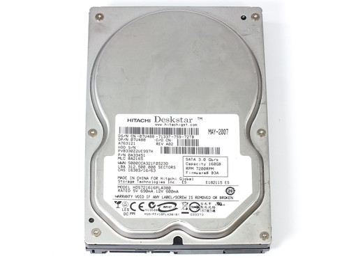 "Hitachi 0A33451 160GB 3.5"" Deskstar 7200 RPM SATA Internal Hard Drive"
