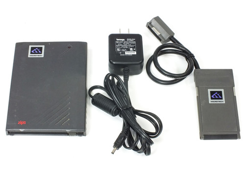 Microtech Zip Drive 100MB with PC Card Adapter & Power Supply ~ TESTED (MZ9711)