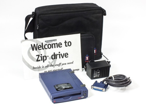 Iomega Z100P2 100MB Zip Drive with Case, Power Supply & Parallel Port Cable