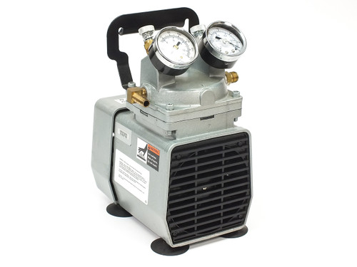 "GAST DOA-P704-AA Air Compressor 1/8 HP 115 VAC 1/4"" FNPT Oilless Diaphragm"