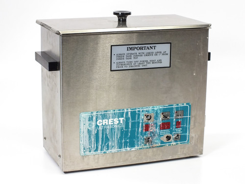 Crest CP500D 1.5 Gal Ultrasonic Cleaner with Digital Timer *AS-IS* No Heat