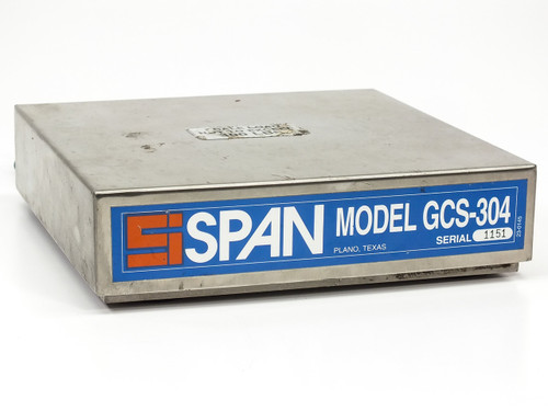 SPAN GCS-304 Gas Cylinder Scale 300 LBS w/ SAM-305 Amplifier -AS-IS