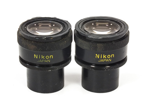 Nikon CFUW Pair of 10X Microscope Eyepieces - 30mm Diameter  - Damaged Plastic
