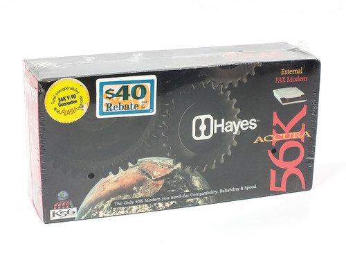 Hayes 08-02973 Accura 56K External FAX Modem V1.120HY with Drivers & Manual