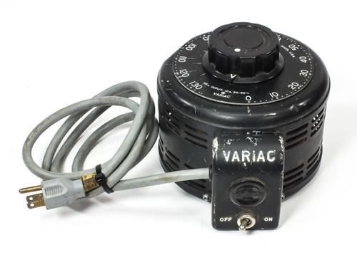 General Radio Variac Auto Transformer 10 Amp PRI: 115 VAC SEC: 0 ~ 130 VAC