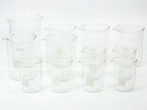 Pyrex Lot of 1003 Heavy-Duty Beakers 400ml and 1000ml Laboratory Glassware