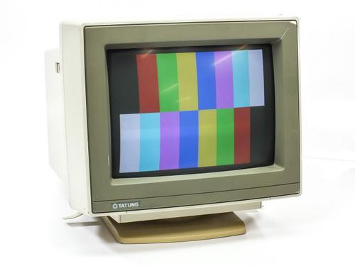 "Tatung CM-1496G 14"" CRT Monitor VGA 640x480 - Tested GOOD *Cracked Housing*"