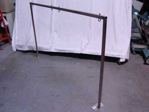 "Clean room Stainless Steel Table Tool Mount - Adjustable 72' Wide by 36"" High"