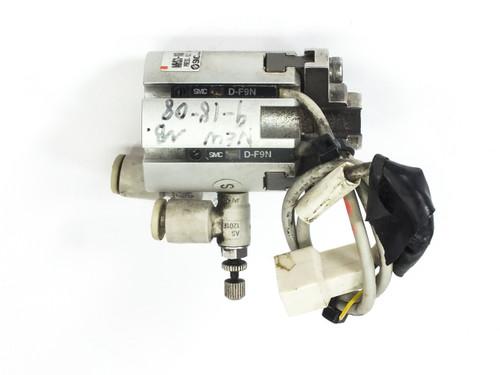 SMC MHS3-16D Pneumatic Actuator Gripper 3-Finger 16mm Bore no Mounting Pole