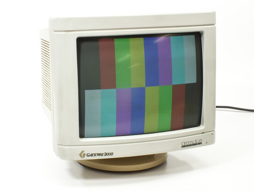 "Gateway 2000 PMV1448 14"" CRT Monitor with SVGA Cable - Light Screen Burn"