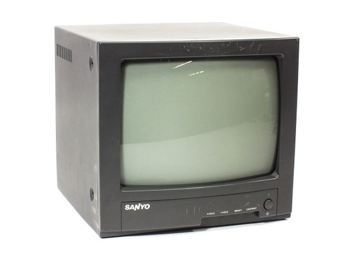 "Sanyo VM-5612 12"" B/W Video Monitor Monochrome BNC Ports"