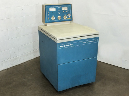 Beckman J6B High Capacity Refrigerated Centrifuge with JS-5.2 4-Bucket Rotor