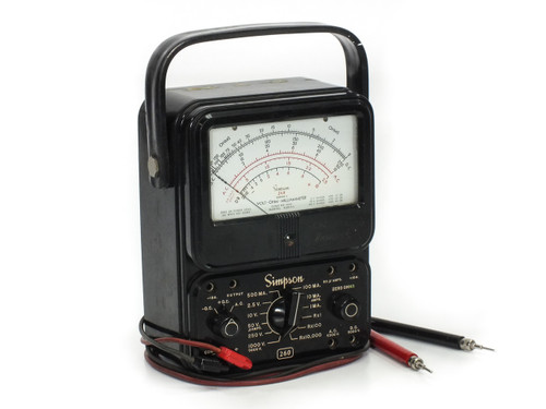 Simpson 260 Series 4 Analog Multimeter w/ Leads -AS-IS / FOR PARTS