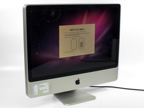 "Apple A1225 24"" iMac 7.1 Core 2 Duo 2.4GHz 320GB HDD -FOR REPAIR - LCD LINES"