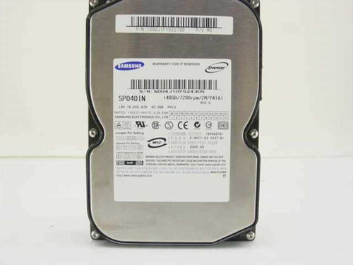 "Samsung 40GB 3.5"" IDE Hard Drive SP0401N"