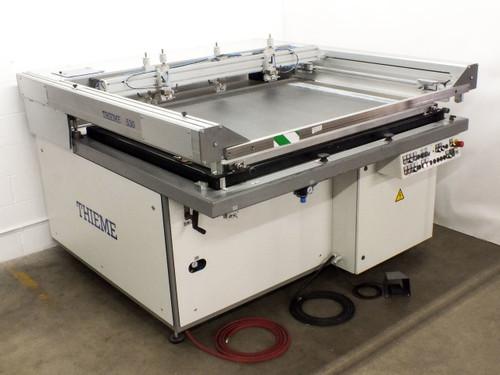 Thieme 530 Flatbed Screen Printing Press Large Format Silkscreen Printer