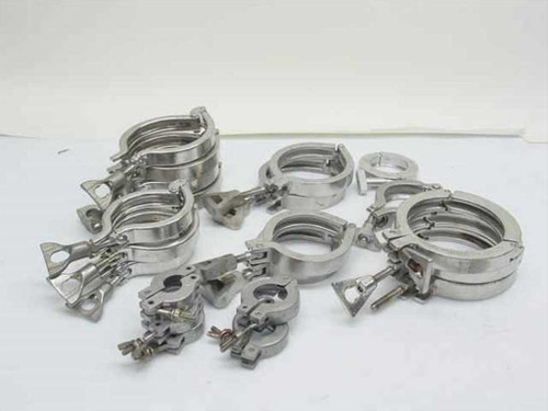 Balzers Lot of 21 ISA Clamps Mixed Sizes ISA Clamps