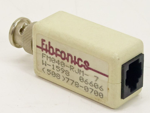 Fibronics RJ11 to BnC adaptor for Networking FM040-RJM-7
