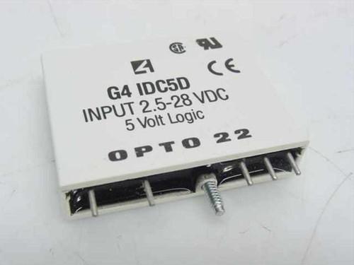 OPTO 22 G4 DC Input, 2.5-28 VDC, 5 VDC Logic (IDC5D)