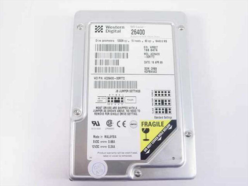 "Western Digital 6.4GB 3.5"" IDE Hard Drive (AC26400)"