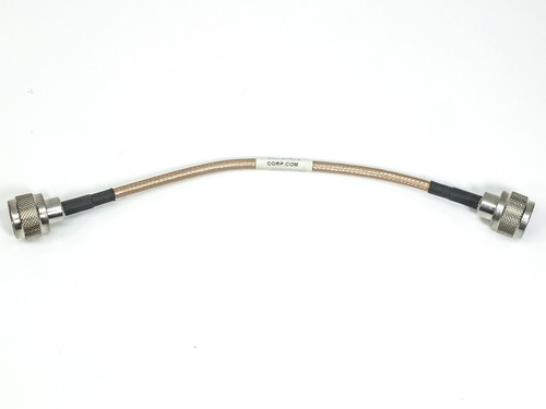 "ESM Cable Corp. 8"" Coaxial Cable w/ M-M N-type Connector RGS-400"
