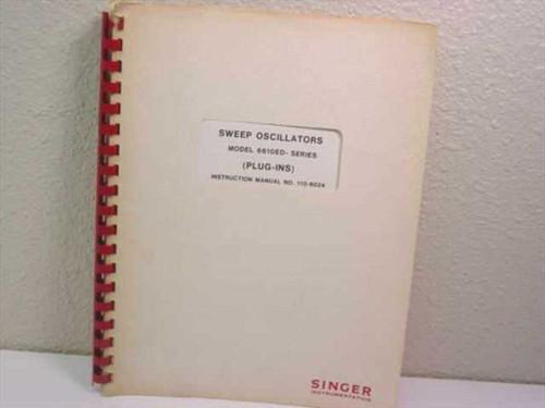 Singer Instrumentation Sweep Oscillators Model 6610E-Series (plug-in) I 110-6024