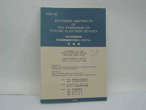 Extended Abstracts of 9th Symposium Nov. 1990, Chiba, Japan