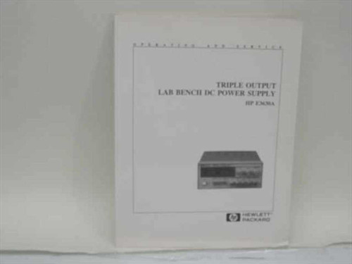 HP Triple Output Lab Bench DC Power Supply Manual (5959-5329)