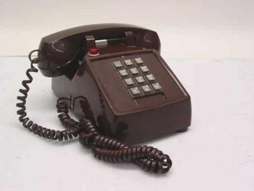 ITT Single Line Telephone - Brown 2500-45-FBA-20M