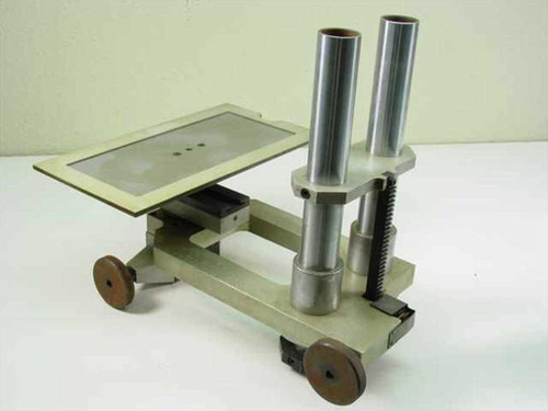 Greek letter maker Stand with gear and pinion Silver