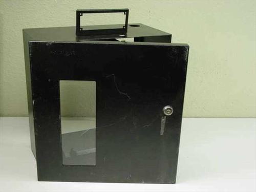 "Security Metal box w/ 13.5""x 14""x7"" door and lock no keys (Enclosure)"