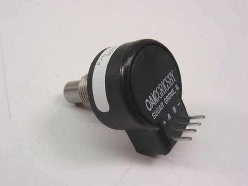 Oak-Grigsby Encoder 5V operation, quadrature output, 64 pulses 78016
